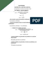 CUESTIONARIO (2) Indicadores de Gestion