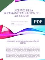 Conceptos de La Departamentalización de Los Costos