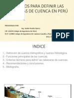 Criterios Para Definir Cabeceras de Cuenca