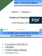 Semana 1  - Sesion 1 Costos en Construccion.pdf