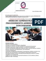Derecho Administrativo y Sancionador- 12 Al 14 de Junio