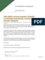 Bloqueos _ Administración de ORACLE en Español