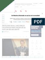 Decálogo de El Juez Emilio Calatayud Para Hacer de Su Hijo Un Delincuente
