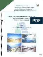 estudio hidrologico rio Pisco