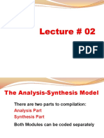Lecture # 2 - Related Programs