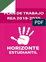 [Resumen] Plan de Trabajo Rea 2019-2020