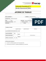 Evaluación sumativa N° 2 Cálculo Estructural TTES02.890D 2019
