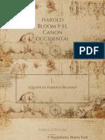 Presentación Harold Bloom y El Canon Occidental