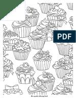 coloring book cupcakes
