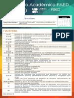 Calendario Academico Faed 2019