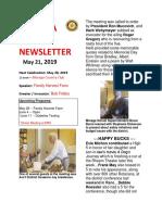 Moraga Rotary Newsletter May 21