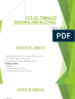 Effects of Tobacco Smoking and Alcohol