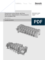 Rexroth Hydraulic control valve specification Manual