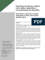 Experiência da doença cardíaca entre adultos submetidos à revascularização do miocárdio.pdf