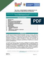 Terminos de Referencia Generales Convocatoria de Formacion Departamento Del Huila Version Consulta