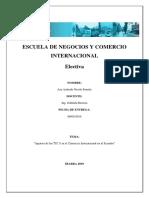 Tics en El Comercio Exterior Ecuatoriano