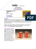 The E-newsletter of Off Track Art an artists' cooperative gallery October/November 2010