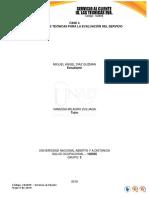 Fase 4 - Identificar Las Técnicas Para La Evaluación Del Servicio - Individual