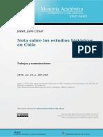 Jobet Julio Cesar  notas sobre los estudios històricos en Chile.pdf
