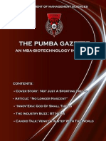 The PUMBA Gazette October 2010 Edition