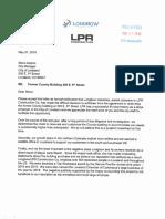 Letter from LPR to City of Loveland