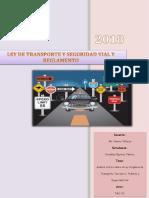 Análisis Crítico Sobre La Ley Orgánica de Transporte Terrestre, Tránsito y Seguridad Vial
