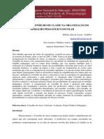 PIZOLI,2009. a Função Do Conselho de Classe Na Organização Do Trabalho Pedagógico Escolar