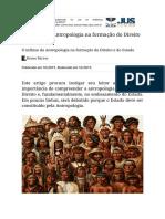 O Influxo Da Antropologia Na Formação Do Direito e Do Estado - Jus.com.Br _ Jus Navigandi