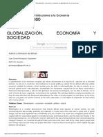 Globalización, Economía y Sociedad, La Globalización Es Un Fenómeno