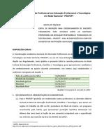 2019 Edital Profept Credenciamento Docente
