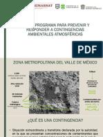 Nuevo programa para prevenir y responder a contingencias ambientales atmosféricas