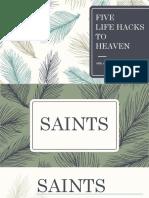 Five Life Hacks to Heaven