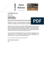 Robert Shuler Smith 5-22 Press Release