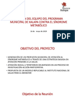 REUNIÓN DEL EQUIPO DEL PROGRAMA MUNICIPAL DE XALAPA.pptx