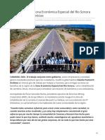 20-05-2019 Municipios de la Zona Económica Especial del Río Sonora reciben buenas noticias-Expreso