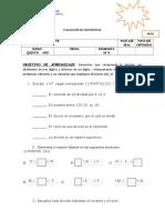 Evaluacion de Divisiones