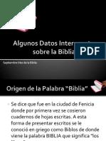 Datos Relevates de La Biblia