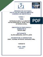 INTRODUCCIÓN A LA OBSTETRICIA ANTECEDENTES AL NIVEL NACIONAL Y INTERNACIONAL