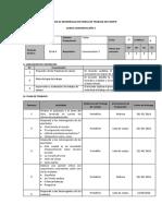 Ficha de Trabajo de Campo COM3- 3262
