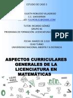 Aspectos Curriculares Generales de La Licenciatura en Matemáticas