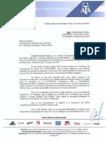 Nota de AFA x clasificación equipos torneos Conmebol 2020