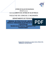 Practica Regulacion Del Transformador