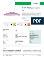 Bombilla LED UFO Para Crecimiento de Plantas, E27, 40W, PLANT GROW 5_1