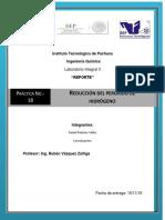 Práctica18 Reducción Del Peróxido de Hidrógeno