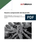 ACT - Nuestra Comprensión Del Desarrollo