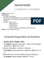 Anatomia e Fisiologia - Aula 1