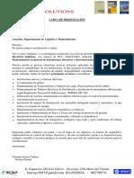 Carta de Presentación -Log Vit