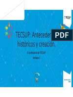 I Tecsup Antecedentes Históricos y Creación.