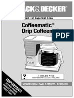 Manual Cafetera Black and Decker Coffeematic