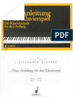 BURKARD Neue Anleitung Für Das Klavierspiel Band 1